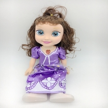 2018 wholesale 34CM fashion music Princess sofia Doll Beauty music barbiee Doll For girl gift toys