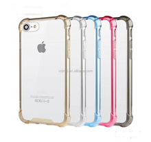 Crystal Clear Shock Absorption Bumper Soft TPU Transparent Cover phone Case for iPhone 7 Plus