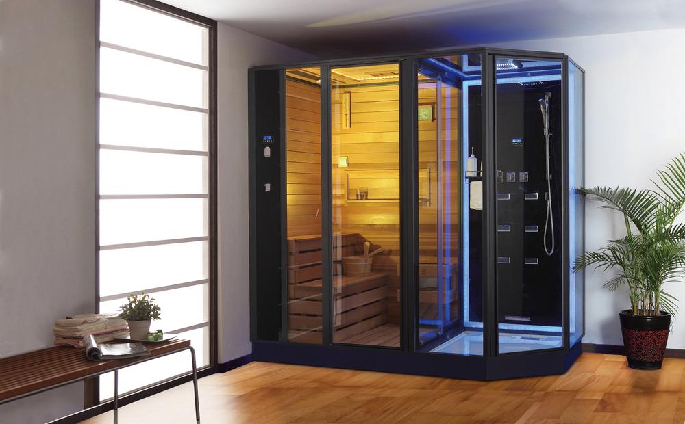 Ag0006 Far Infrared Steam Sauna Shower Combination Buy Infrared Sauna Shower Combination Sauna