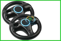 Steering Wheel for Wii Mario Kart Racing Game Remote Controller Black New