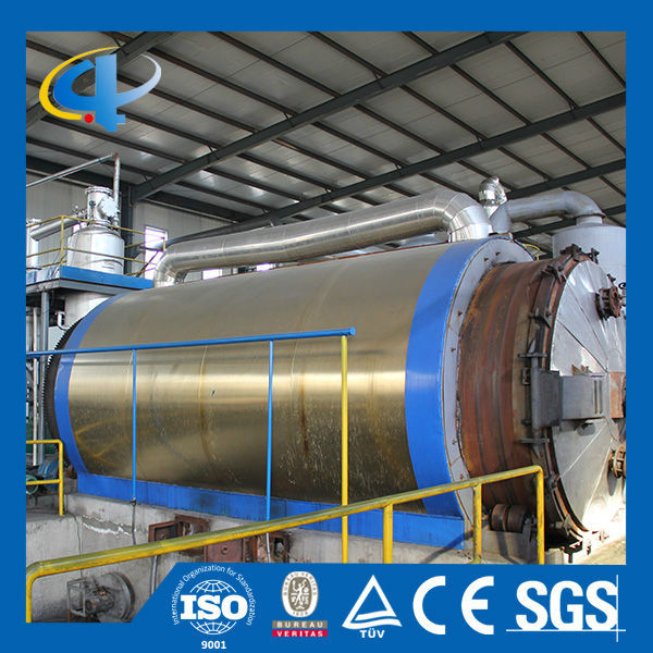 2016 most advanced technology recycling tire machine pyrolysis plant