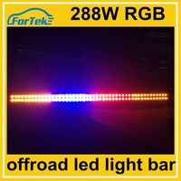 remote control 4x4 288w 50 inch rgb led light bar off road color change for emergency car