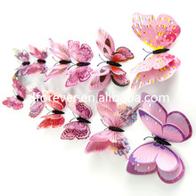 Alforever PVC12 pcs 3D butterfly Home Decor Sticker Art Design Decal Wall Stickers Room Decorations