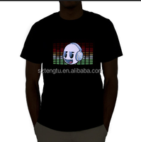Electroluminescent EL panel t-shirts,Custom EL t shirts,Animation EL tshirts Online Shopping