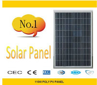 poly crystalline silicon solar panel 110wp