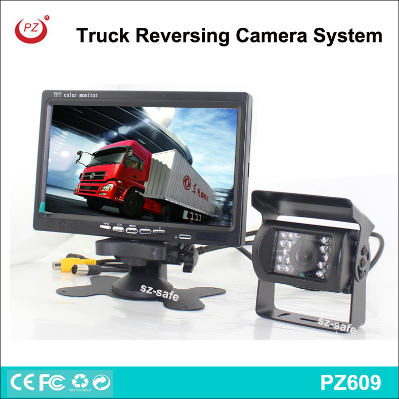 heavy duty night vision rear view system, 7'' lcd display reversing camera kit for pickup truck