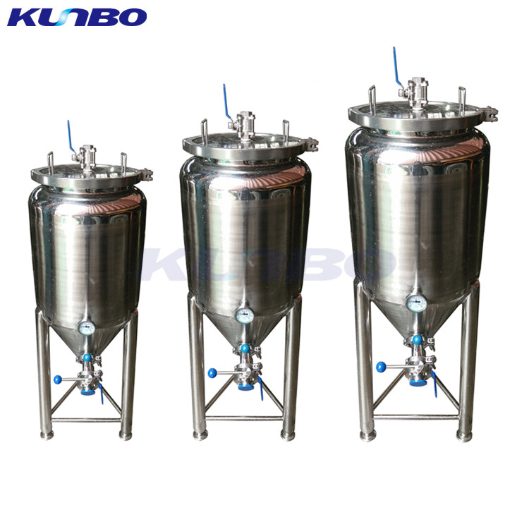 KUNBO 50L 100L Stainless Steel Conical Fermenter for Beer