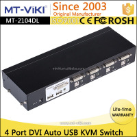 MT-VIKI auto kvm switch dvi usb port for 4 pc share one set of keyboard mouse and video