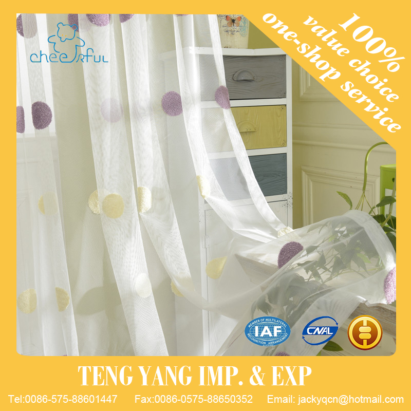 Home textile Window use Embroidery thermal curtains