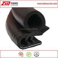 EPDM rubber door trim with metal insert