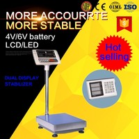 Tcs 30x40cm digital platform weigh scale with pulley