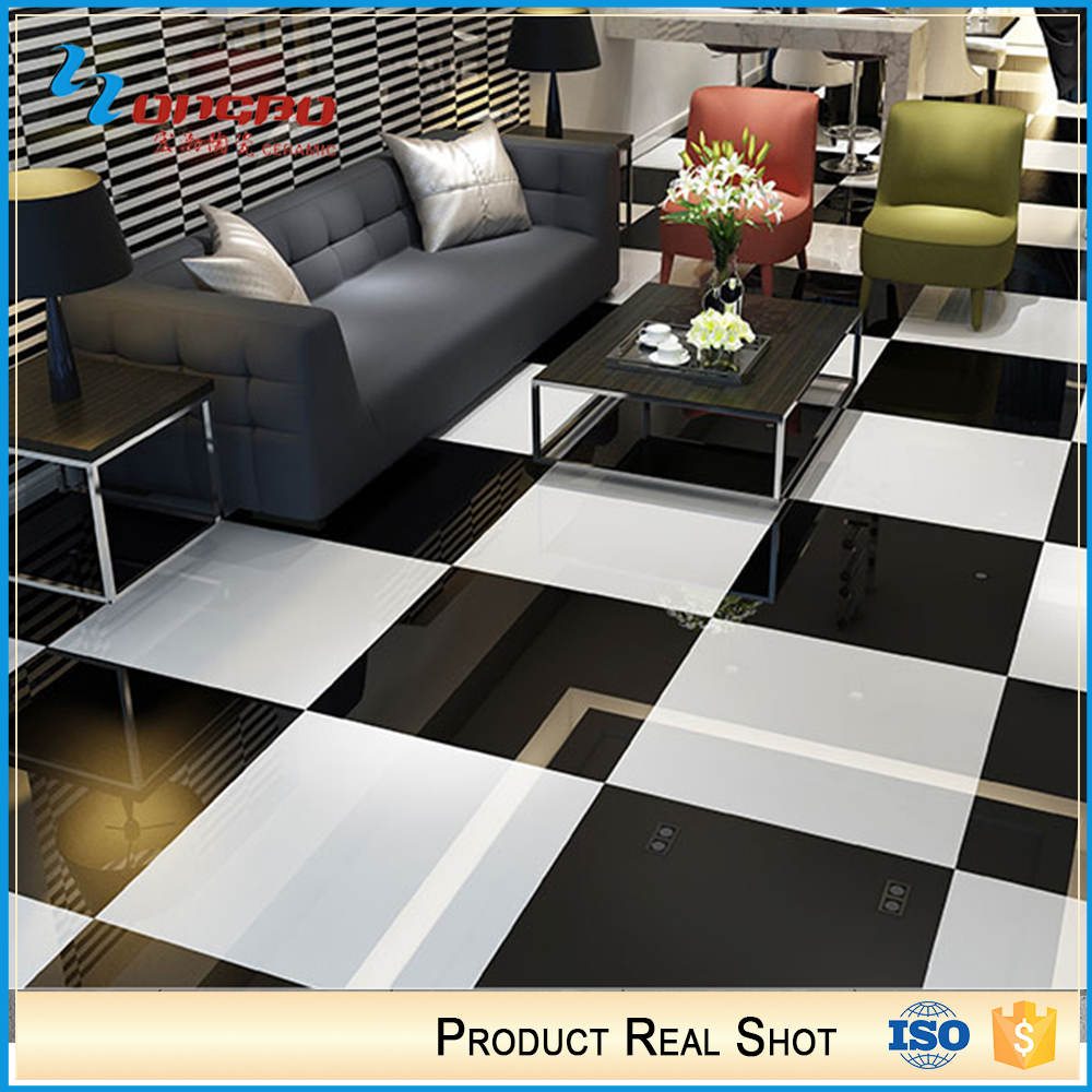 Interior Decoration Kitchen 80X80 Black And White Floor Tiles