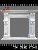 Carved Modern Natural Indoor Used Fireplace Mantel