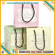 Customized High Quality Recycle Printed Wedding Door Gift Paper Carrier Bag