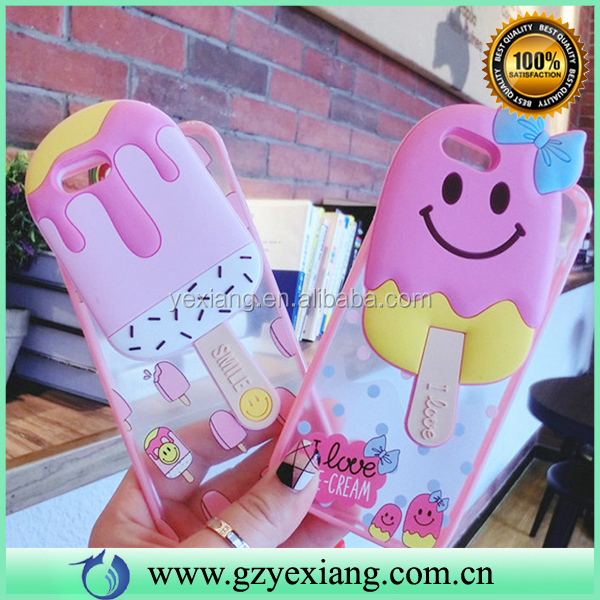 Ice Cream Cell Phone 3D Silicon Case Cover For Huawei Ascend G7 Cute Case