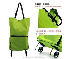 Eco friendly non woven canvas nylon polyester recycle reusable trolley foldable shopping bags