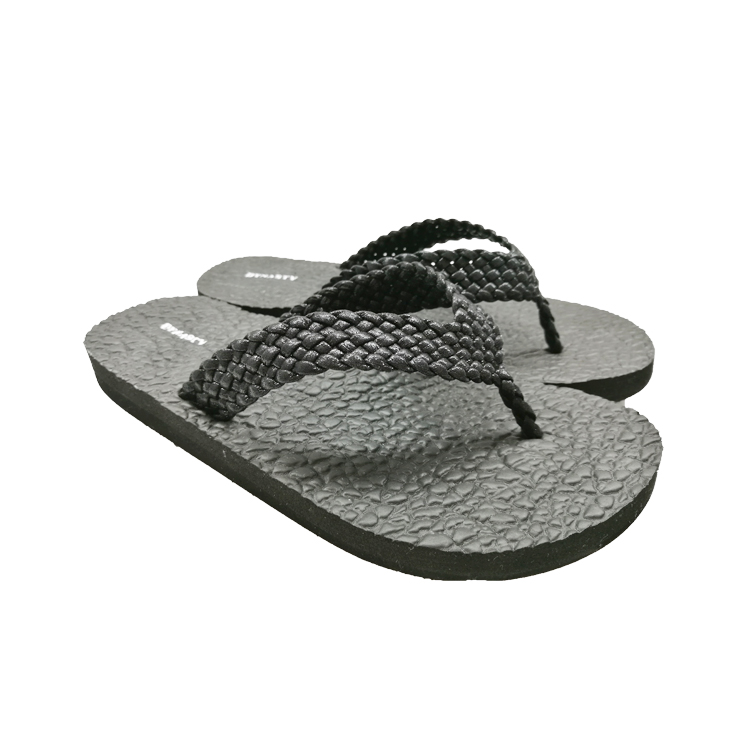 Natural custom cheap black rubber flip flops