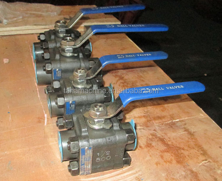 3pc forged steel A105N 800lb small size ball valve