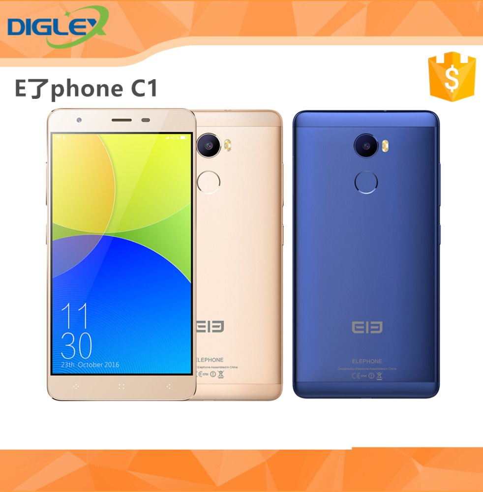 Original Elephone C1 Android 6.0 2GB RAM 16GB ROM 13.0 MP 4G Smartphone Gold Blue Color
