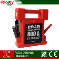 Starting current 400A / 12V 300A / 24V capacity 24000mAh multi-function jump starter