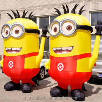 Ningbang 2016 hot sale inflatable minion costumes for advertising