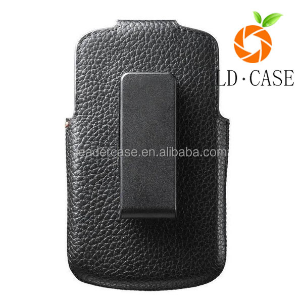 Leather Case Pouch Holster for Blackberry priv, with belt clip