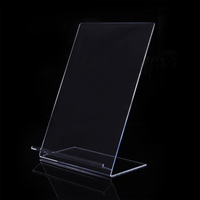 Clear acrylic/plexiglass/ lucite slant back shirt display stand holder racks