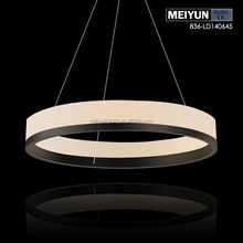 led light ring pendant acrylic designer lamp