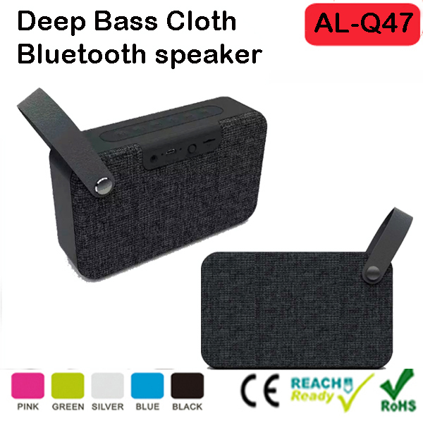 new products Fabric Grille Portable Bluetooth Speaker with Handle, 1800mA Lithium Battery, Micro-SD Card Reader, Aux-in Function