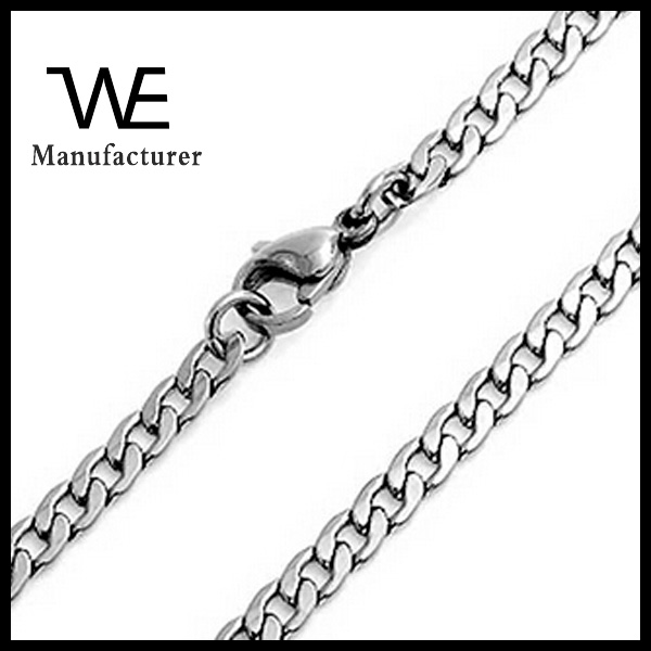 Titanium Steel Simple Design Figaro Link Chain Necklace Women