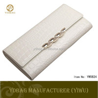 crocodile grain women tough wallet