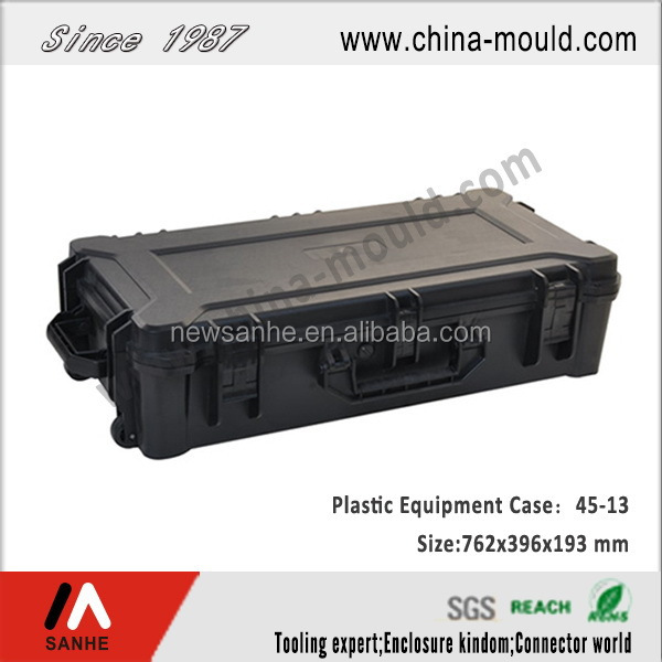 ip67 hard plastic durable military short gun case