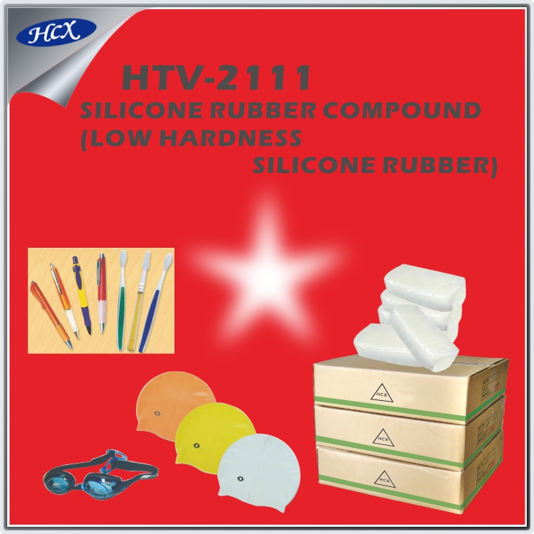 HTV-2111 Solid silicone rubber compound translucent low hardness htv silicone rubber