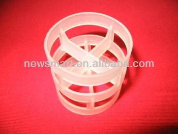 Plastic Pall Ring used as Random Packing