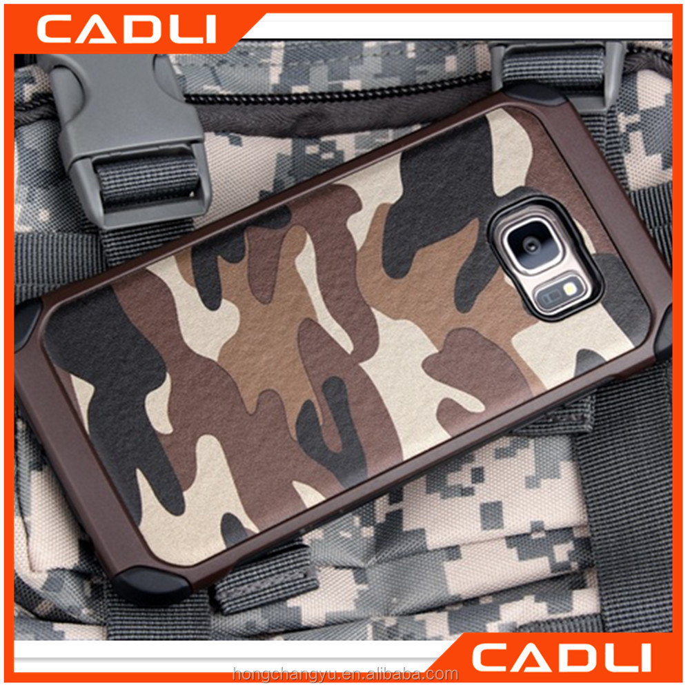 Army Camo Camouflage Pattern Back Cover Hard Plastic TPU Anti-knock Protective Armor Phone Case For Samsung Galaxy Note 7
