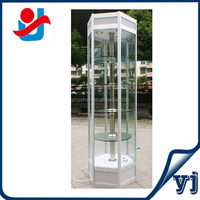 Rotating mirror jewelry cabinet, electric rotating display case, rotating glasses display stand
