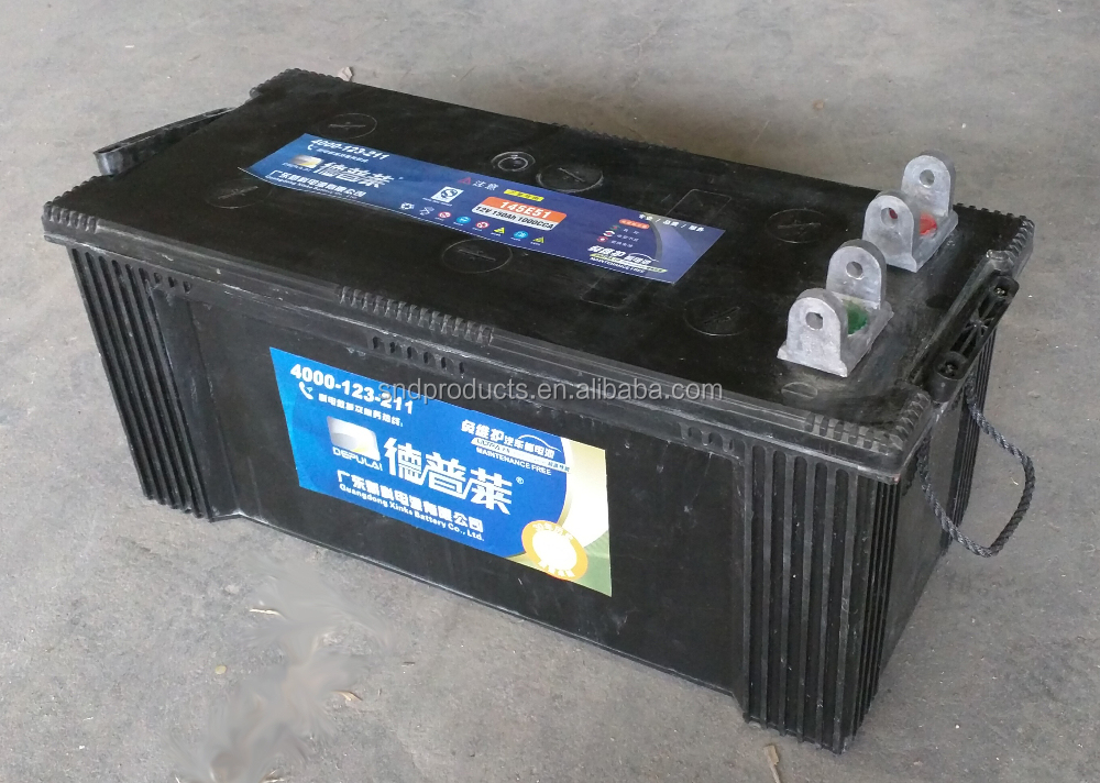 Reliable Quality Official Distributor Depulai 12V 150Ah Maintenance Free Sealed Lead-Acid Marine and Truck Battery