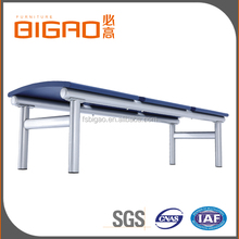 BIGAO Modern Design Luxury Comfortable 3-seater Salon Tandem Bench with Steel Leg for Salon or Airport room