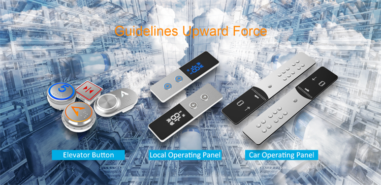 Sightseeing Elevator Lop Local Operating Panel Anti Fingerprint With Led Display