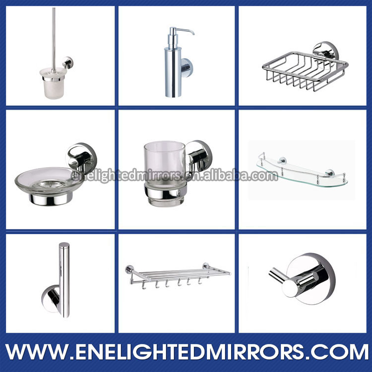 Modern Luxury high end bathroom mirror mounting hardware