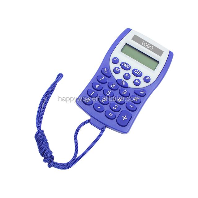 Custom Mini Portable Lanyard Calculator 0702043 MOQ 500PCS One Year Quality Warranty