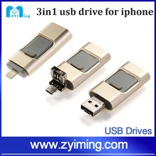 Zyiming 16-64GB otg flash drive usb flash memory for iPhone/5/5s/iPad/iPod/Android phone