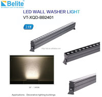 ip65 linear led wall washer light 24w 2000lm multiple beam angle AC100-250V/DC24V outdoor wall washer lamp