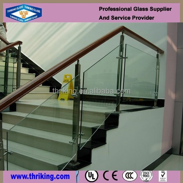 Thriking Safe clear tempered glass fence panels
