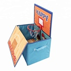 decorative kids favor folding storage box with Basketball hoop