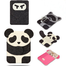 New Panda Cartoon Kids Xmas Gift Organizer Bag Case Cover For Apple Ipad 2 3 4 5 Air Free Shipping