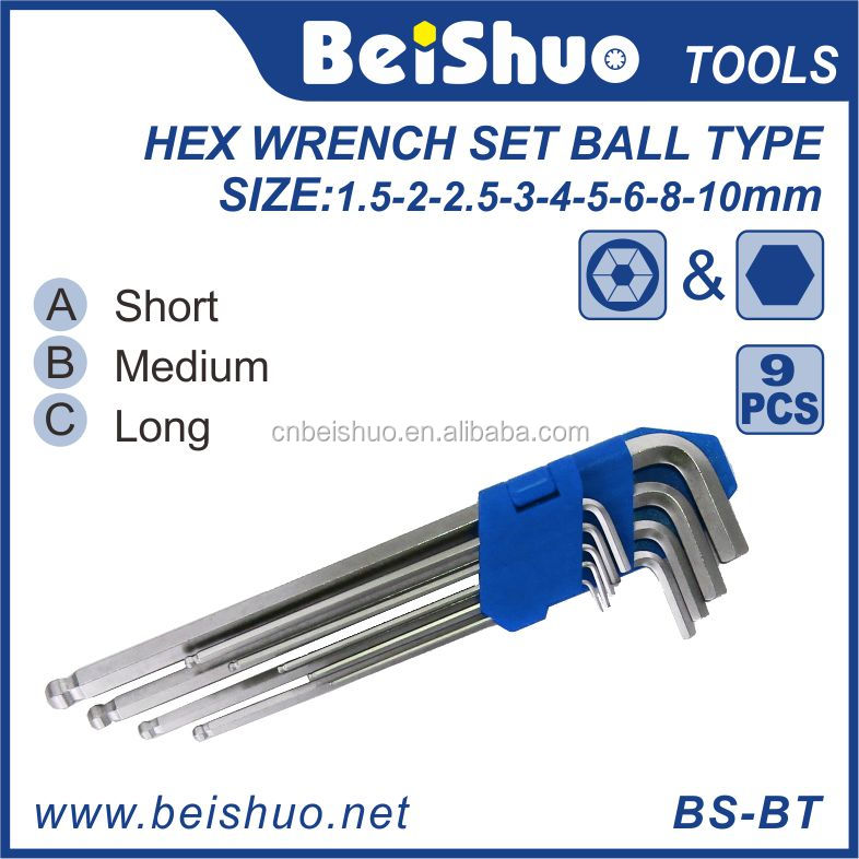 Different Sizes Hexagonal Allen Key Square Hex Wrench Set