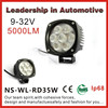 Best selling lifetime warranty 9-32V 35W off road auto led work light, super bright led work light