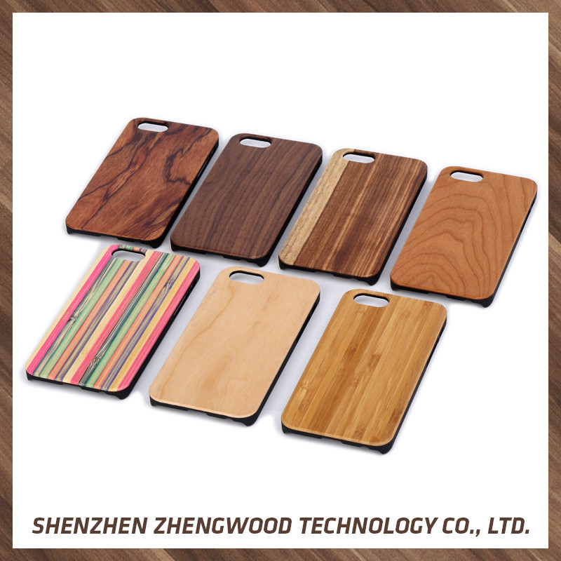 Modern design wooden cell phone cases wood leather case for Apple iPhone