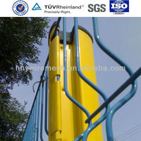 welded panel fence New price Triangle Bending Mesh Fence finery pvc coated wire fencing